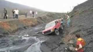 how not to tow a truck that is stuck in the mud