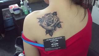 Hình xăm hoa hồng, Hình xăm hoa, Địa chỉ xăm hình uy tín tại tpchm