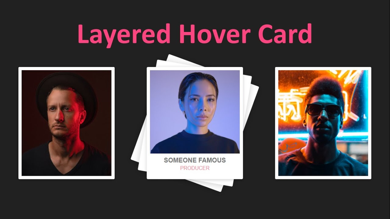 CSS Layered Hover Card Effect Using Html and Css