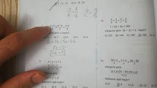 Oran ve Orantı Test 4 Esen TYT Matematik Mavi Seri Açıklamalı Çözümleri