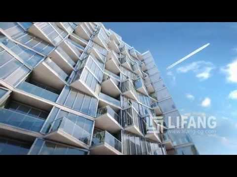 Maraya Residences apartments development CGI animation, Dubai