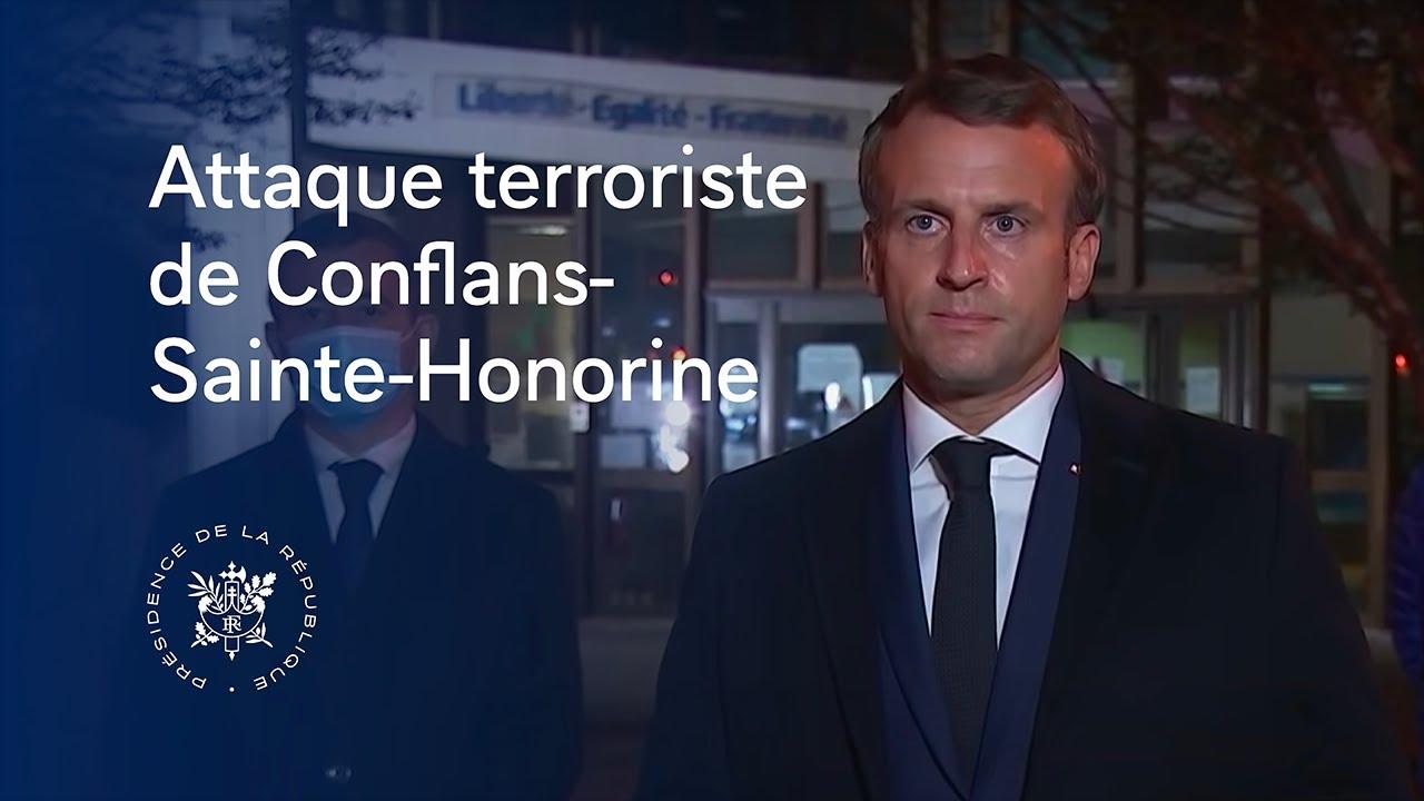 Déclaration après l'attaque terroriste de Conflans-Sainte-Honorine.