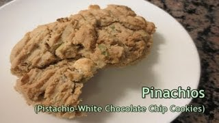Easy No Egg Cookie Recipe - Pistachio White Chocolate Chip Cookies (pinachios) [hd]