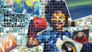 Mosaic Photo Reveal | After Effects template | videohive slideshow