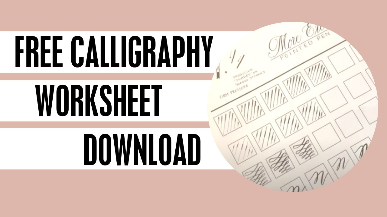 Calligraphy Worksheet Demo - FREE DOWNLOAD - YouTube