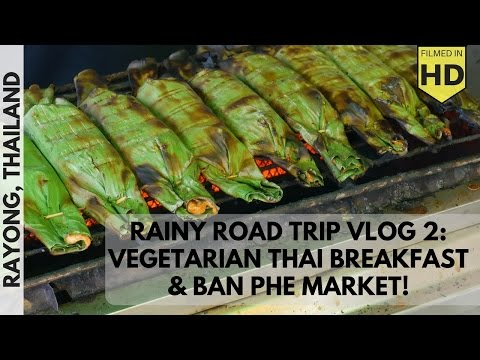VL2: Vegetarian Thai Noodle Breakfast and Ban Phe Market Part 1