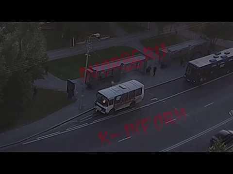В Сургуте горел автобус на проспекте Ленина