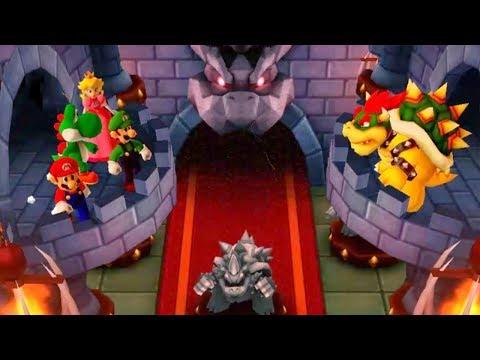 Mario Party The Top 100 - 4 Player Free-For-All Funny Minigames - Peach vs Luigi vs Mario vs Yoshi