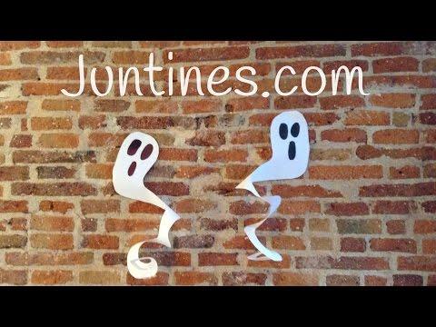 Fantasmas de papel para halloween paso a paso