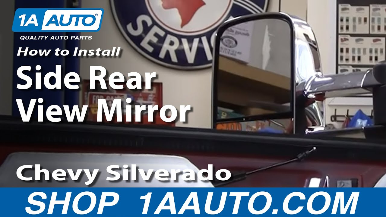 hight resolution of how to install replace side rear view mirror chevy silverado avalanche gmc sierra 07 14 1aauto com youtube