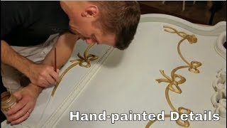 Hand-painted Decorative Twin Bed