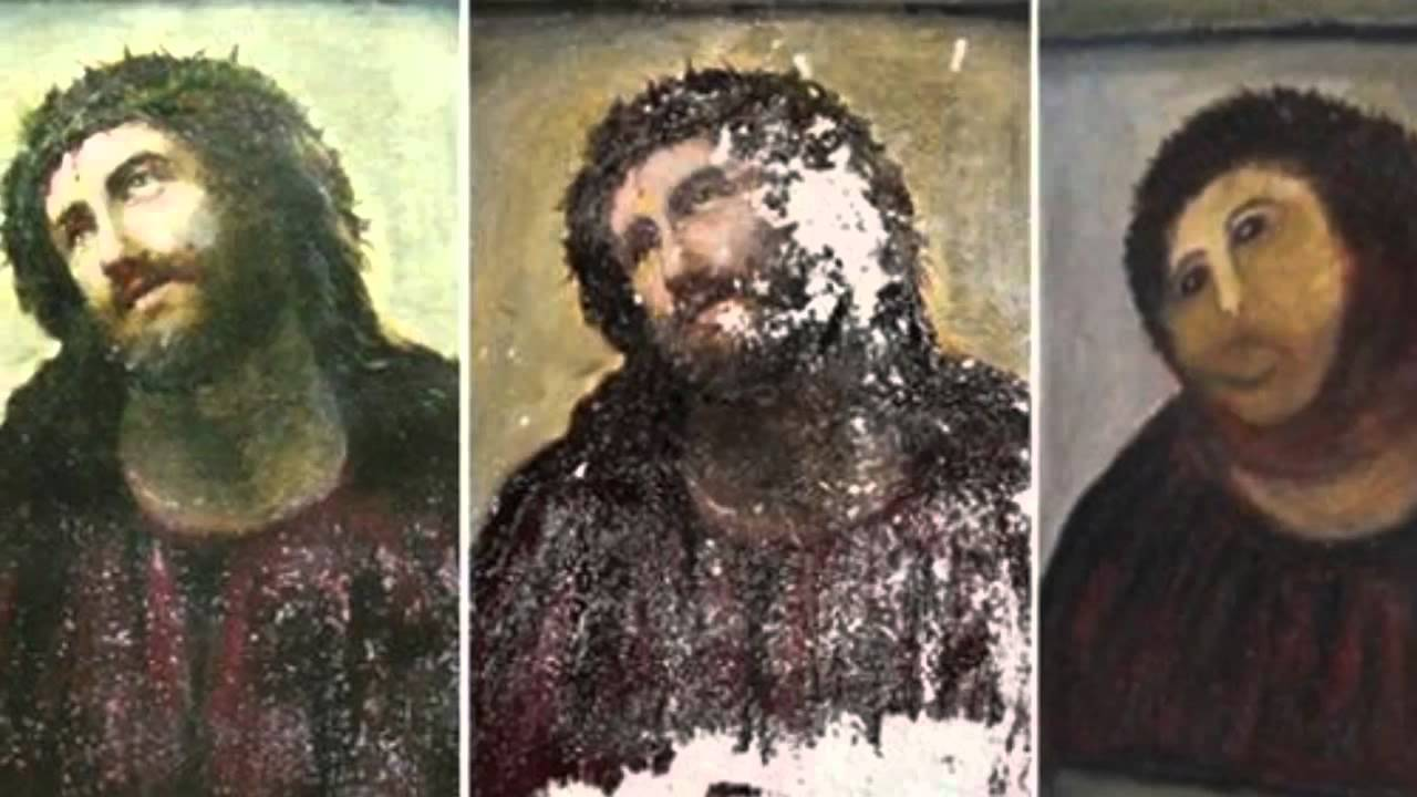 spanish fresco restoration botchedamateur - youtube