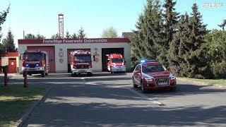 [Sirenenalarm + Inside View] Einsatzübung Feuerwehr Doberschütz zum Floriansfest