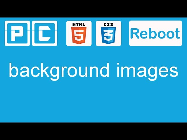 HTML5 and CSS3 beginners tutorial 20 - background images