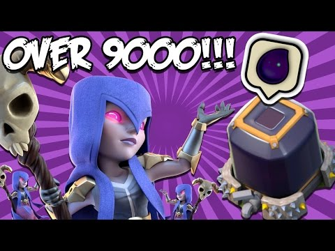 Clash Of Clans-EXPENSIVE DARK ELIXIR Attack!(22 Witches!) Trolling Clan Wars!