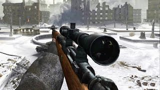Call of Duty 2 Sniper Mission Veteran Gameplay