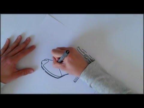 dibujo-a-mano-alzada-de-una-sandalia
