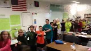 HUGE 5th Grade Conga Line - Mr. Riedl