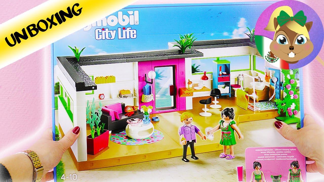 Unboxing playmobil villa de lujo casa para vacacionar for Casa moderna de lujo playmobil