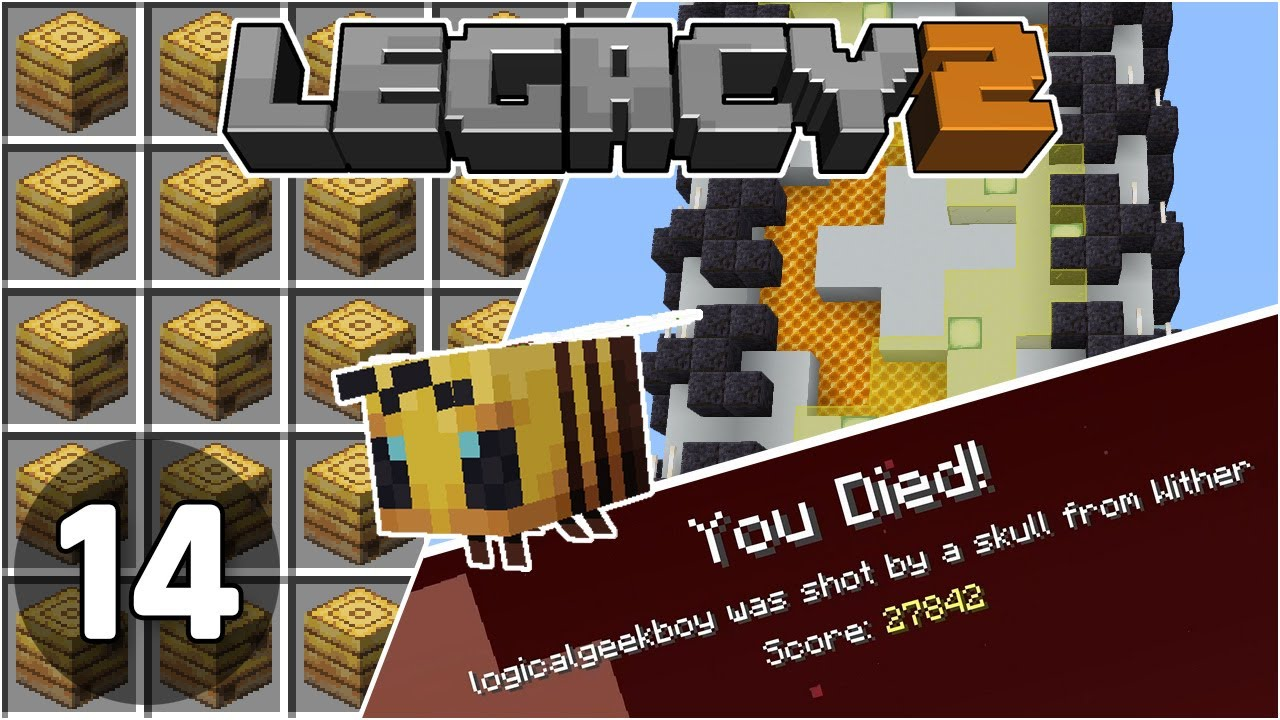 Bee Nest Farm & Bad Wither Fight - Legacy SMP 2: #14 | Minecraft 1.16 Survival Multiplayer