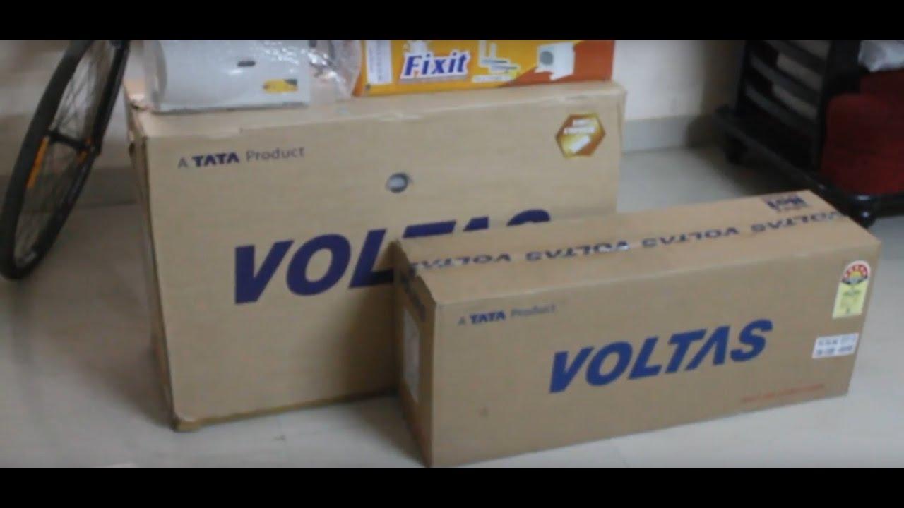 Air Conditioner Fan >> Voltas 1 ton split ac installation - YouTube