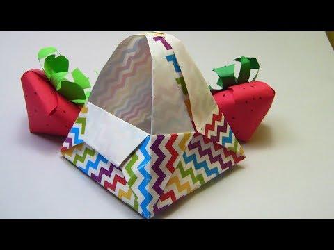 HOW TO MAKE A CART OF ORIGAMI DIY- ORIGI BASKET FOR CANDY. Paper Art - Easy DIY