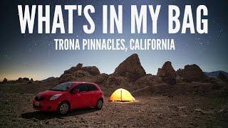 What's In My Camera Bag -  Trona Pinnacles