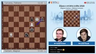 FIDE 2018 World Chess Championship - přímý přenos 6. partie, komentují Tadeáš Kriebel a Lukáš Vlasák