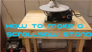 How to Make a Scroll Saw Stand From 2x4's and A Hand Saw