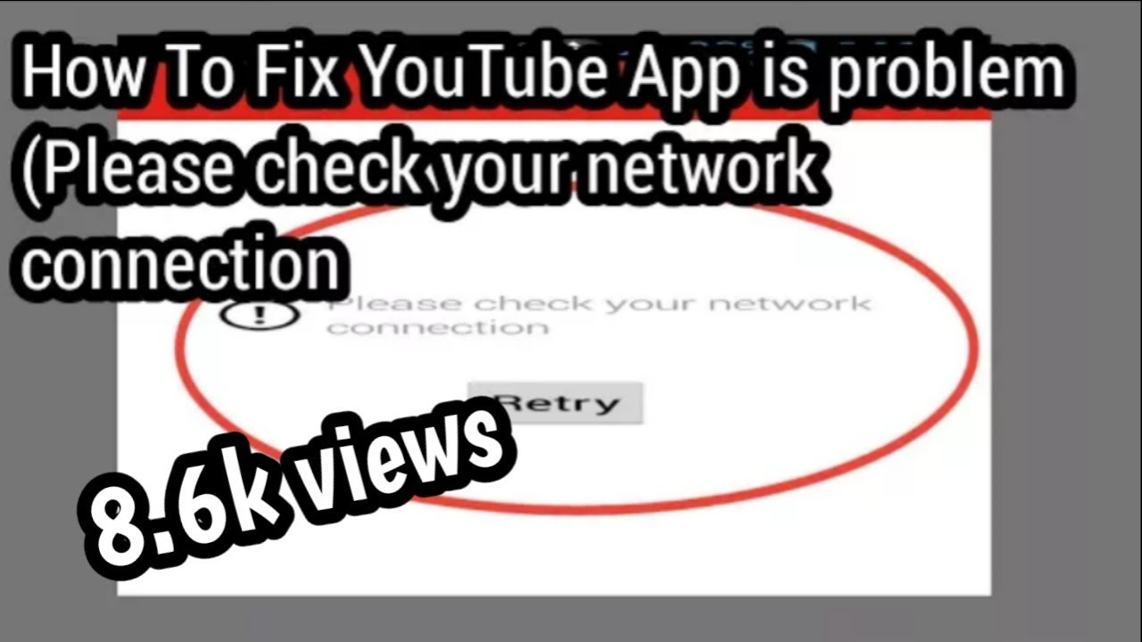 youtube network connection error