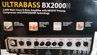 Behringer Ultrabass BX2000H unboxing and quick demo