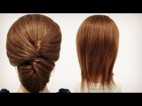 Прическа на Короткие волосы. Просто Сделать СЕБЕ! Hairstyle for Short Hair. Just Make Yourself! thumbnail