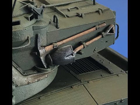 How to paint tools for plastic armor  models using Tamiya products