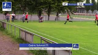 A-Junioren - 2:0 Cedric Schmid - SSV Reutlingen 05 vs FC Astoria Walldorf