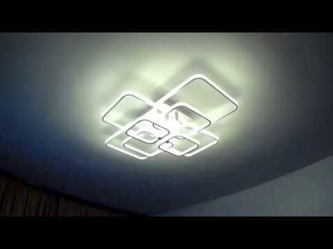 Распаковка и обзор светодиодной люстры с алиэкспресс