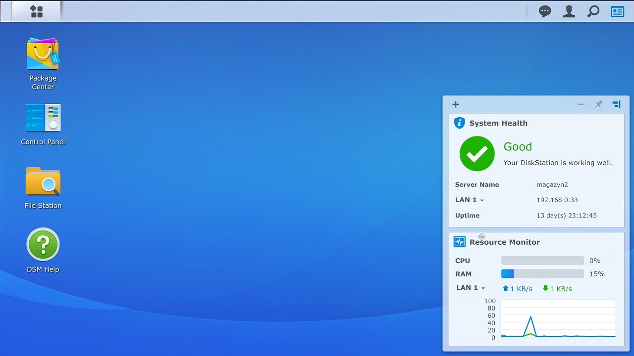 Install backup server and client on Synology NAS