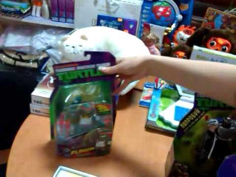 Игрушки про черепашек ниндзя видео