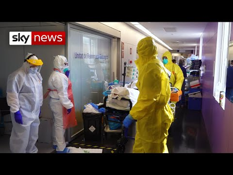 Coronavirus: Inside an intensive care unit in Barcelona's Hospital Del Mar