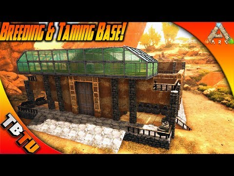 BEST TAMING AND BREEDING BASE BUILD! ARK Survival Scorched Earth Gameplay Gaming Evolved