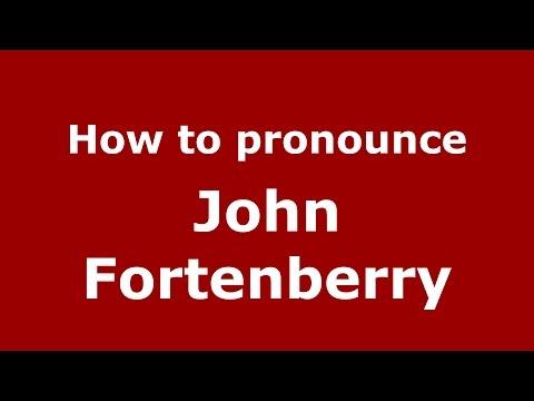 How to pronounce John Fortenberry American EnglishUS  PronounceNames.com