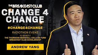 2020 Presidential Candidate Andrew Yang Donates To #Change4Change Radiothon
