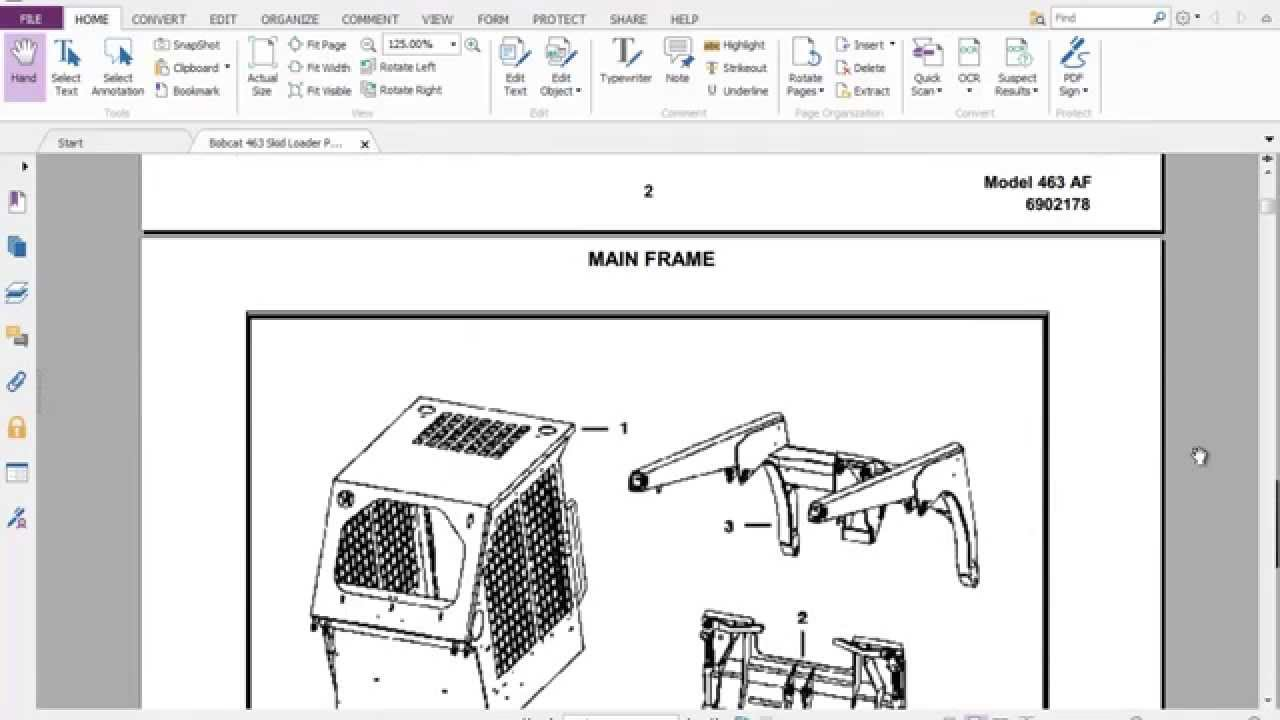 maxresdefault bobcat 463 skid loader parts manual youtube Bobcat 873 Wiring Harness Diagram at creativeand.co