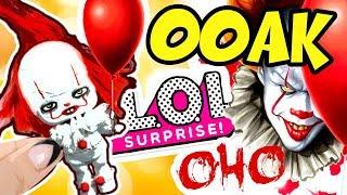 Клоун Пеннивайз - Кастом куклы ЛОЛ сюрприз в Шаре из фильма ОНО | IT PENNYWISE Custom LOL Surprise