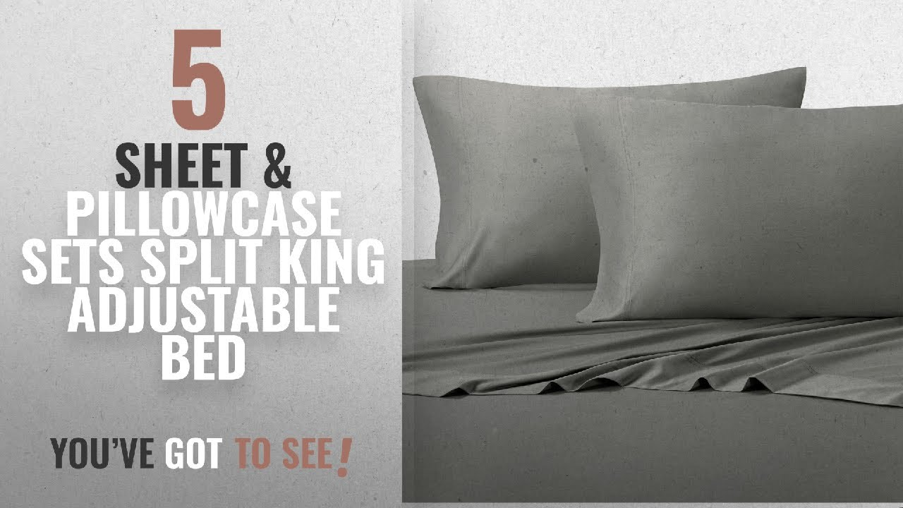 Top 10 Sheet U0026 Pillowcase Sets Split King Adjustable Bed [2018]: Solid Gray  Split King: Adjustable