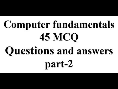 General Engineering mcq # Computer fundamental 45 MCQ