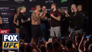 Fabrício Werdum vs Marcin Tybura weigh-in face-off   UFC FIGHT NIGHT