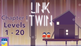 Link Twin: Chapter I, Levels 1 - 20 Walkthrough & iOS iPad Air 2 Gameplay (by Carbon Incubator)