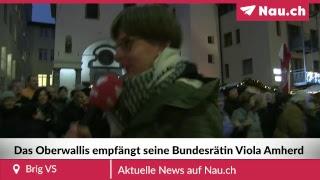Viola Amherd: Das Oberwallis empfängt seine Bundesrätin