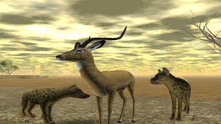 Roblox - Wild Savannah documentary shorts - Impala hunted by hyenas