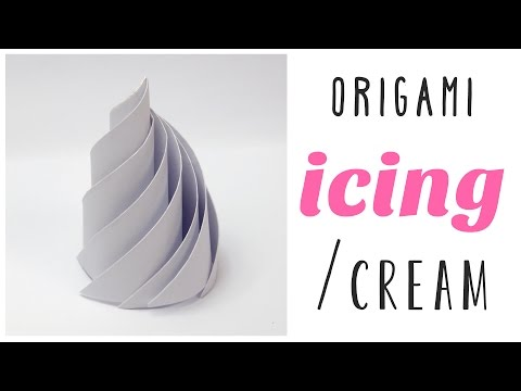 Origami Icing or Whipped Cream Tutorial - DIY - Paper Kawaii